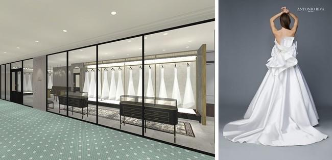 左)リニューアルした衣裳室   人気海外ブランド「ANTONIO RIVA」