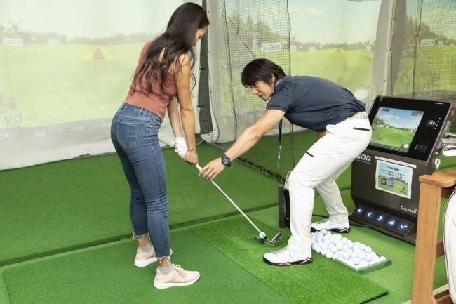 アコーディア ゴルフスタジオ赤坂での初回練習の様子