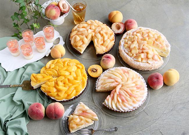 人気の桃をふんだんに使った「桃フェア」の商品