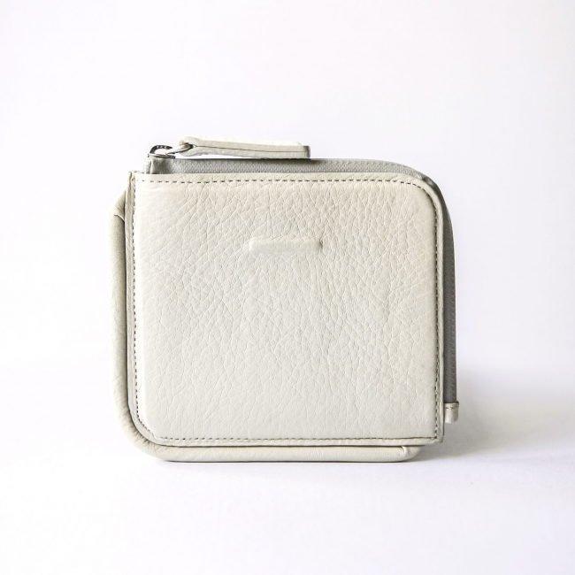 Zip Wallet White Beige