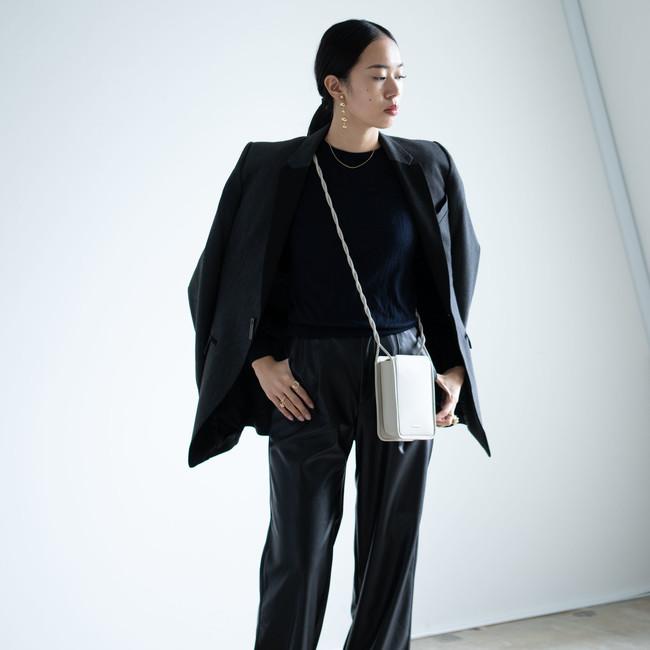 Wallet Bag Wide - White Beige
