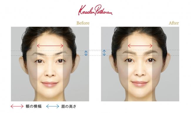 「顔の土台づくり」眉デザインの施術