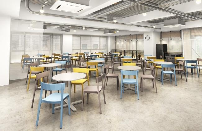 イベントスペースにもアレンジ可能なリラックススペース