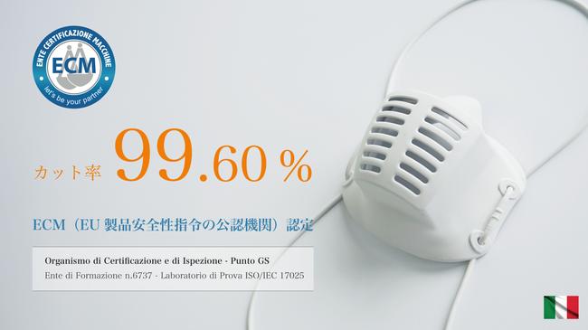 カット率99.6%を実現した高性能マスク FENICE(フェニーシェ)|洗える交換フィルターセット
