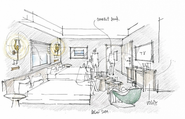 ファミリールーム(コネクト) 面積:25平方メートル ×2部屋 ご利用人数:4~6名