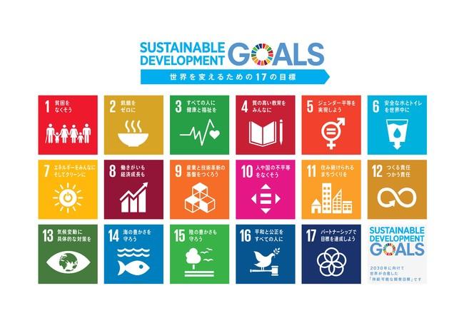 国連が 2030 年までに国際目標と して 「より良い世界にするための みんなの宿題」として掲げられた 「SDGs」