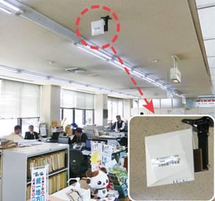 富加町役場に設置された無線LANアクセスポイント