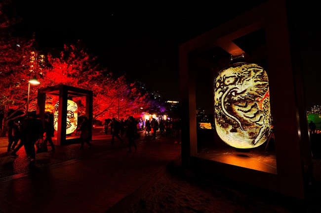 国芳・写楽巨大提灯(写真は過去株式会社SECAIで制作した巨大提灯でイメージです)