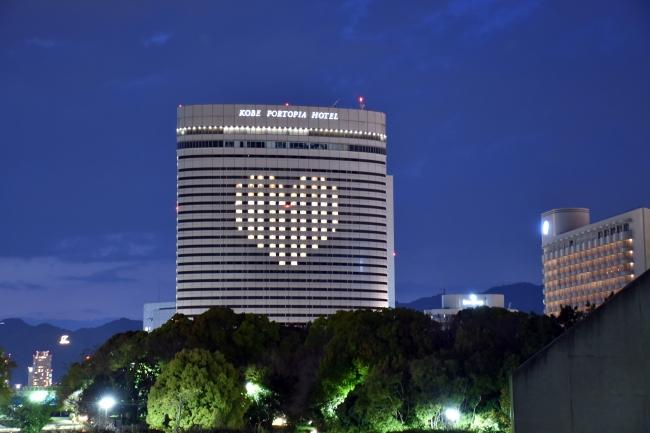 4月27日~30日実施の神戸市立医療センター中央市民病院他医療関係の方々へ向けたライトアップ