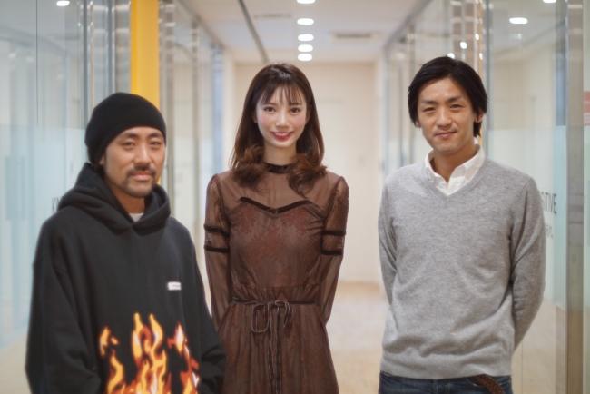 (写真左から、家入一真NOW共同代表、川井メイリーCEO、梶谷亮介NOW共同代表)
