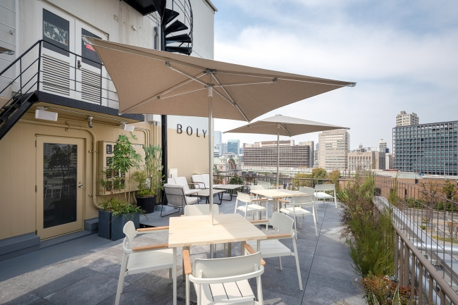 """会場となるホテル""""THE BOLY OSAKA""""のRooftop Terrace。"""