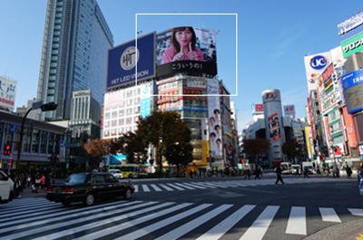 ▲渋谷駅前交差点から