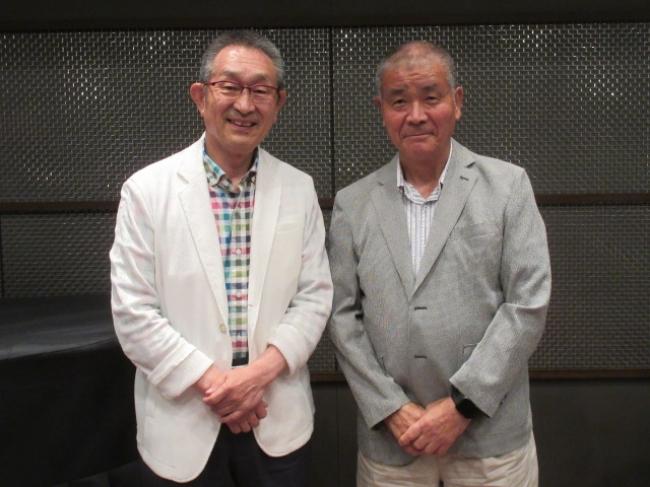 道上洋三アナ(左)、高嶋仁氏(右)