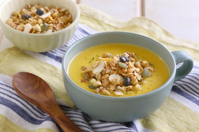 グラノラかぼちゃスープ