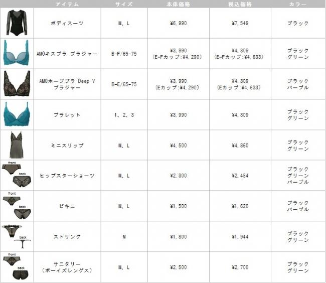 バタフライレースシリーズ-商品一覧
