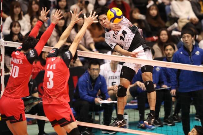 徳島のホームゲームでフルセットを制したジェイテクト・西田(対 サントリー戦)