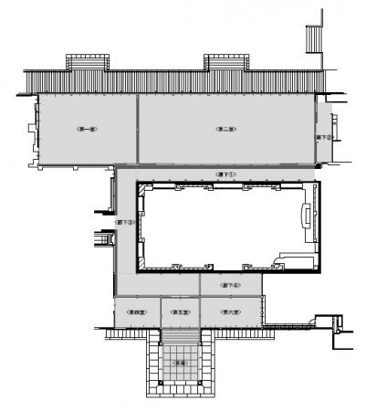 本館のエリア図面