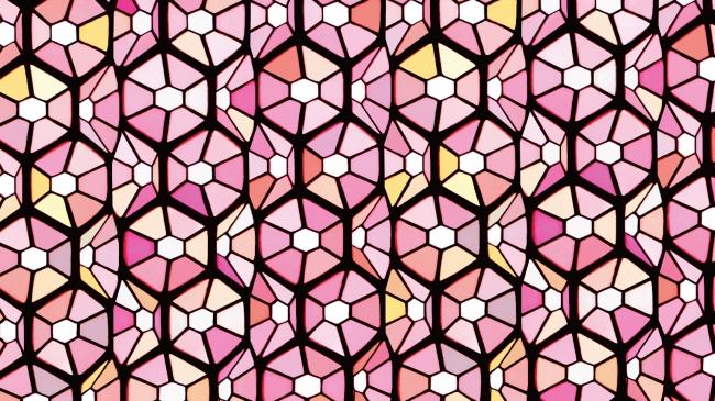 桜の多面性を表現したグラフィック