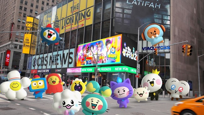 LINE FRIENDS NYタイムズスクエア店を飾ったTRUZ(イメージ)