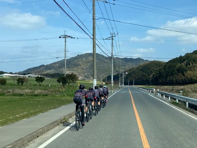 糸島でトレーニングを行なうVC福岡選手