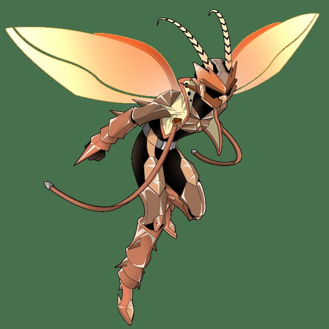 特撮ヒーローになったオスゴキブリ(飛び立つポーズ)