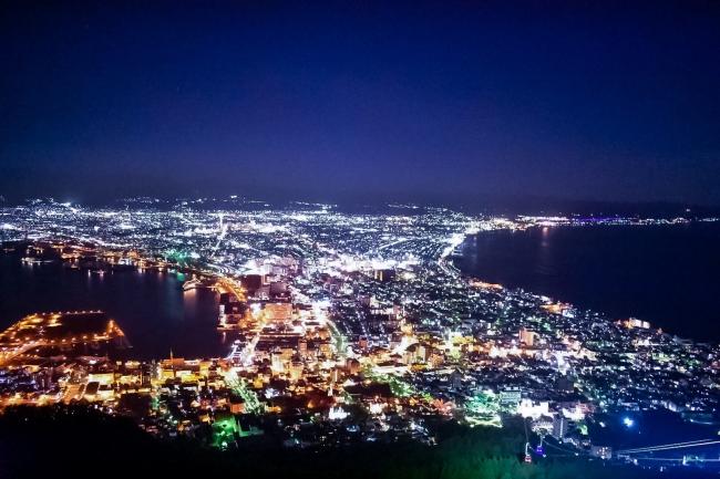 観光名所の函館市夜景