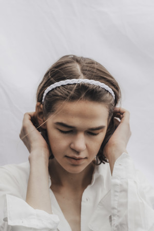 rondo head band (white)