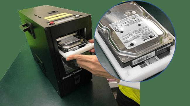 データ消去サービス「リーガルシュレッド(TM)」 ハードディスクの物理破壊