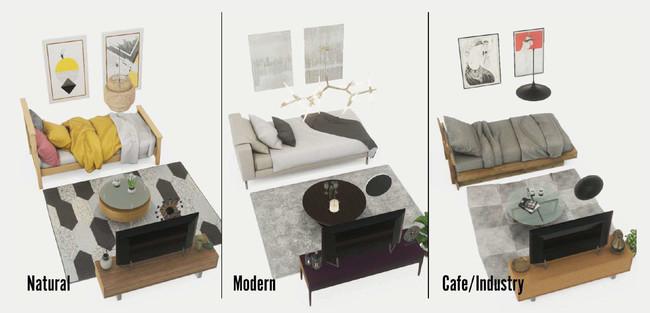 インテリアプランは複数のデザインを用意。ライフスタイルにわせて選択できる。