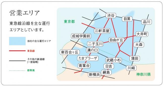東急バス運行エリア