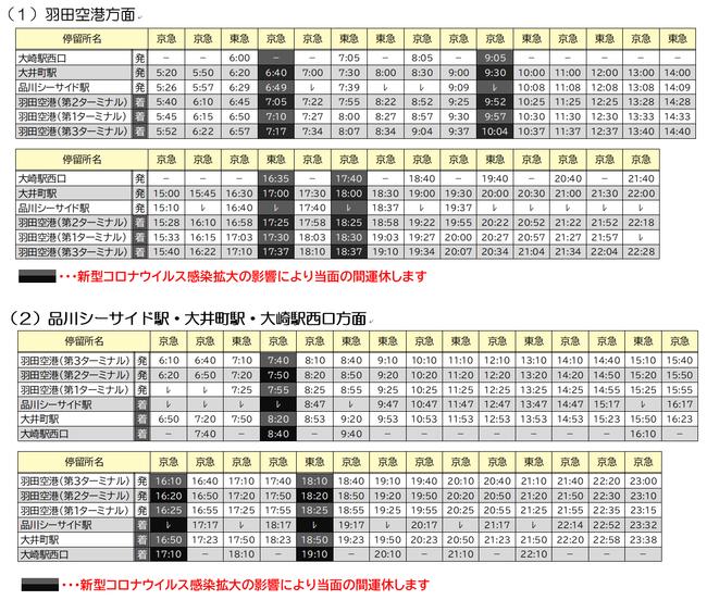 京 急 バス 時刻 表