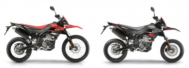 RX 125(左)、SX 125(右)
