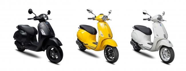 GTS 300 Notte(左)、Sprint 150(中)、Primavera 150 S(右)