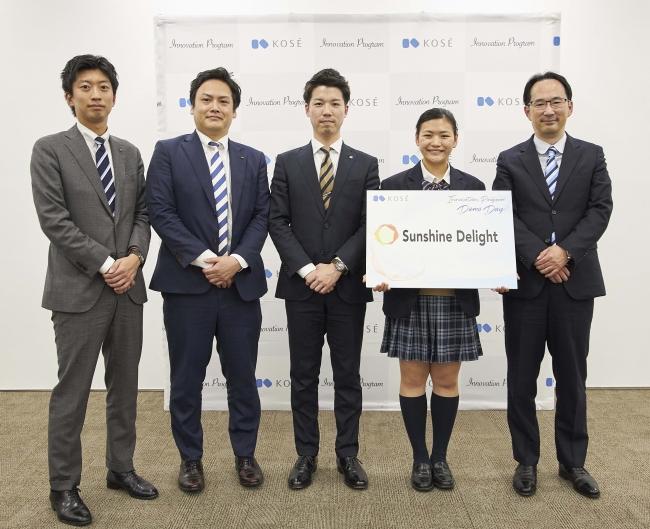 Sunshine Delight ×コーセーの共創チームと常務取締役小林正典