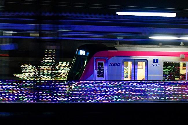 駅のイルミネーション装飾(昨年の様子)