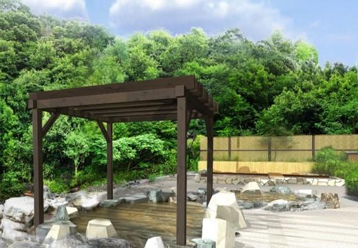 貸出画像「源泉かけ流しの露天風呂」※画像はイメージです。