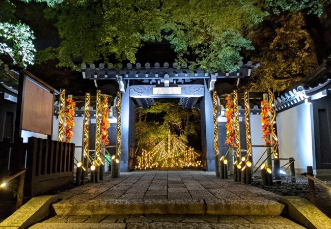 貸出画像「竹あかり×聖門」