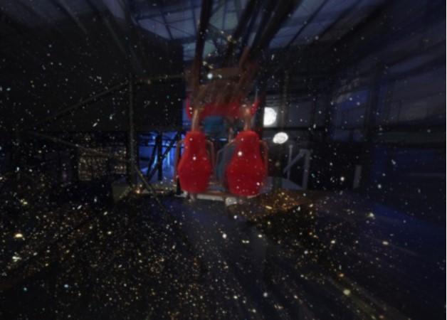 貸出画像「リポビタンロケット☆ルナ 宇宙シーン」