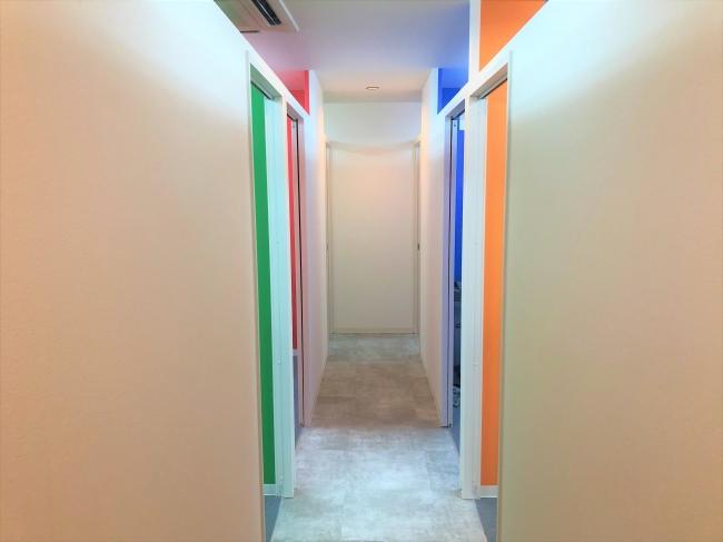 ※写真:完全個室のトレーニングルームです。
