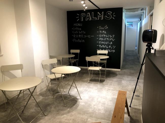 ▲会員限定のオシャレなカフェスペース