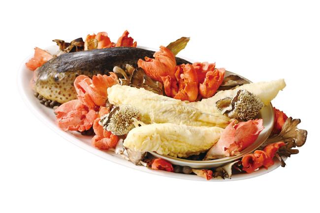 LA SORA SEED FOOD RELATION RESTAURANT ~フグとクエのフリット 季節のきのこのスープ仕立て~ ¥2,600
