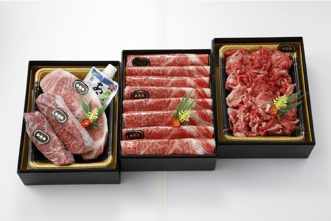 ニュー・クイック 山形牛三段重 ¥30,000