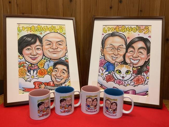 爆笑似顔絵商店 似顔絵、ペアマグカップセット ¥33,333