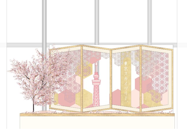 東京スカイツリー天望デッキ フロア350の 館内装飾(イメージ)(C)TOKYO-SKYTREE