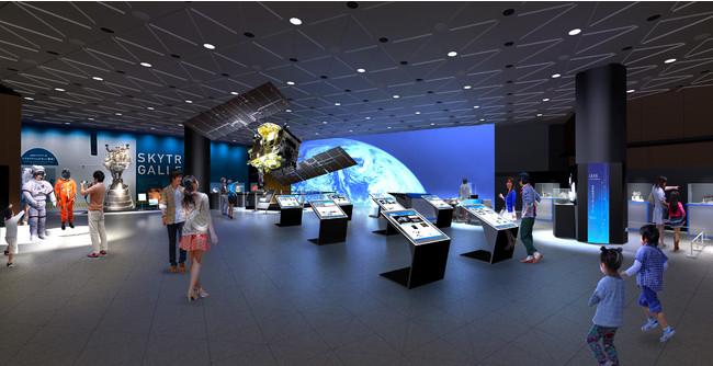 「科学技術のフロンティア」~宇宙と海洋~ の展示(イメージ)