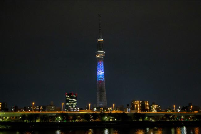 △「スターマイン」をイメージした演出 (C)TOKYO-SKYTREE