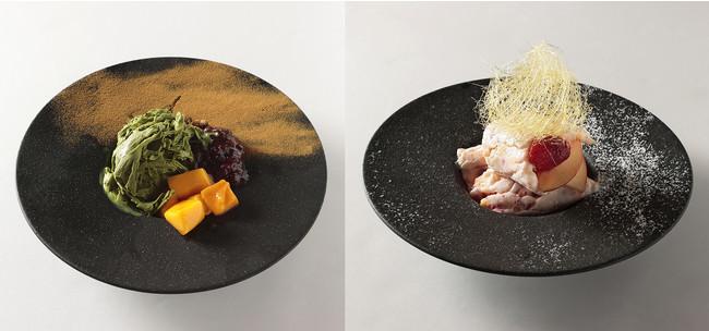 -30℃の鉄板で作る自家製アイスクリーム(摩天楼)¥800(左:ディナー、右:ランチ)
