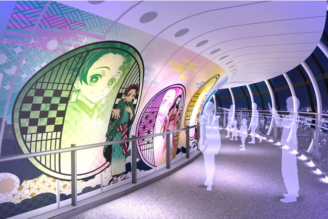〈参〉 回廊エリア (C)吾峠呼世晴/集英社・アニプレックス・ufotable (C)TOKYO-SKYTREE