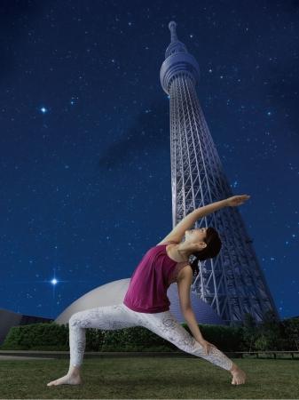 ▲夜空ヨガ(イメージ) ©TOKYO-SKYTREETOWN