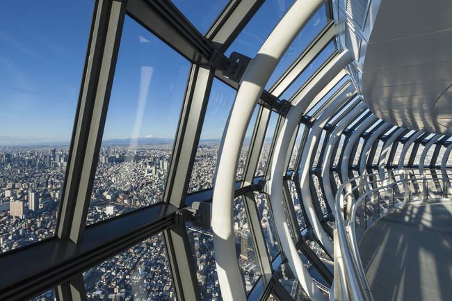 △東京スカイツリー天望回廊からの眺望 (C)TOKYO-SKYTREE